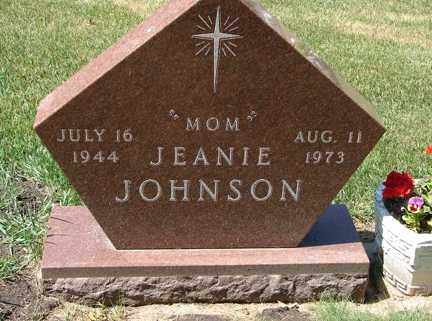 JOHNSON, JEANIE - Minnehaha County, South Dakota | JEANIE JOHNSON - South Dakota Gravestone Photos