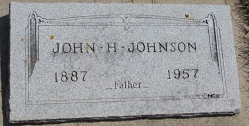 JOHNSON, JOHN H. - Minnehaha County, South Dakota | JOHN H. JOHNSON - South Dakota Gravestone Photos