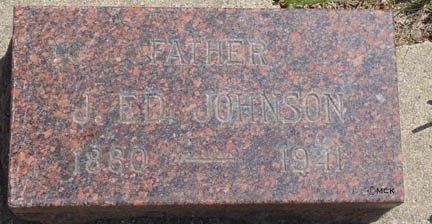 JOHNSON, JOHN EDVIN - Minnehaha County, South Dakota | JOHN EDVIN JOHNSON - South Dakota Gravestone Photos