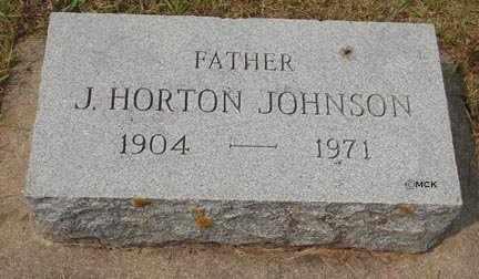 JOHNSON, J.HORTON - Minnehaha County, South Dakota   J.HORTON JOHNSON - South Dakota Gravestone Photos