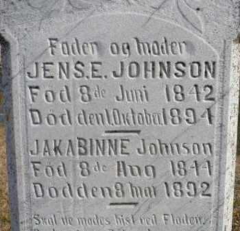 JOHNSON, JAKABINNE - Minnehaha County, South Dakota | JAKABINNE JOHNSON - South Dakota Gravestone Photos