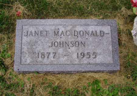 MAC DONALD JOHNSON, JANET - Minnehaha County, South Dakota   JANET MAC DONALD JOHNSON - South Dakota Gravestone Photos