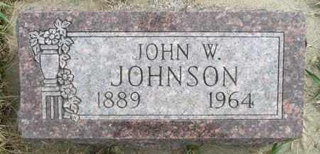 JOHNSON, JOHN W. - Minnehaha County, South Dakota | JOHN W. JOHNSON - South Dakota Gravestone Photos