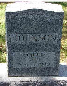 JOHNSON, JOHN F. - Minnehaha County, South Dakota | JOHN F. JOHNSON - South Dakota Gravestone Photos