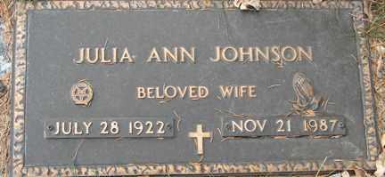JOHNSON, JULIA ANN - Minnehaha County, South Dakota | JULIA ANN JOHNSON - South Dakota Gravestone Photos