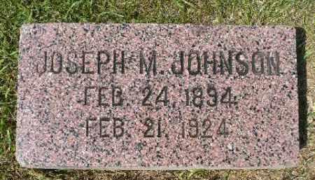 JOHNSON, JOSEPH M. - Minnehaha County, South Dakota | JOSEPH M. JOHNSON - South Dakota Gravestone Photos