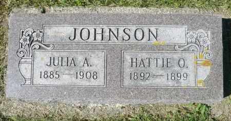 JOHNSON, JULIA A. - Minnehaha County, South Dakota   JULIA A. JOHNSON - South Dakota Gravestone Photos