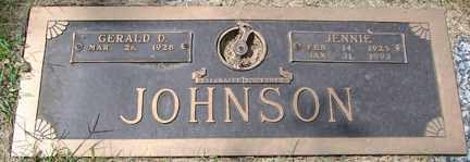 JOHNSON, JENNIE - Minnehaha County, South Dakota | JENNIE JOHNSON - South Dakota Gravestone Photos
