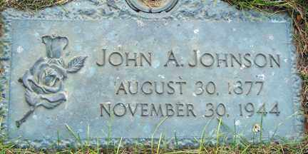 JOHNSON, JOHN A. - Minnehaha County, South Dakota | JOHN A. JOHNSON - South Dakota Gravestone Photos