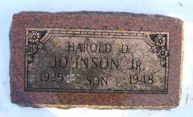 JOHNSON, HAROLD D. - Minnehaha County, South Dakota | HAROLD D. JOHNSON - South Dakota Gravestone Photos