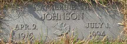 JOHNSON, KATHERINE M. - Minnehaha County, South Dakota   KATHERINE M. JOHNSON - South Dakota Gravestone Photos