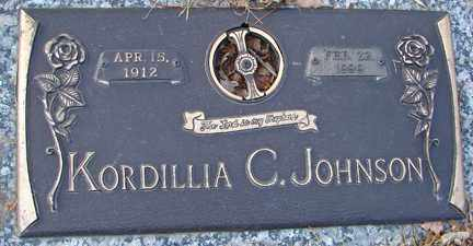 JOHNSON, KORDILLIA C. - Minnehaha County, South Dakota | KORDILLIA C. JOHNSON - South Dakota Gravestone Photos