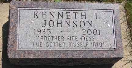 JOHNSON, KENNETH L. - Minnehaha County, South Dakota | KENNETH L. JOHNSON - South Dakota Gravestone Photos