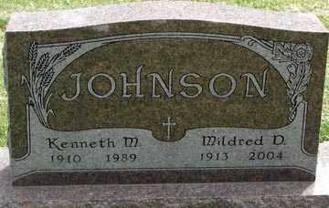 JOHNSON, KENNETH M. - Minnehaha County, South Dakota   KENNETH M. JOHNSON - South Dakota Gravestone Photos