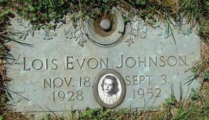 JOHNSON, LOIS EVON - Minnehaha County, South Dakota | LOIS EVON JOHNSON - South Dakota Gravestone Photos