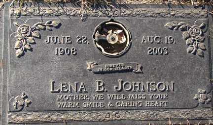 JOHNSON, LENA B. - Minnehaha County, South Dakota | LENA B. JOHNSON - South Dakota Gravestone Photos