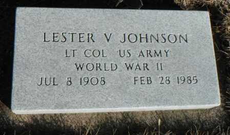 JOHNSON, LESTER VINCENT - Minnehaha County, South Dakota | LESTER VINCENT JOHNSON - South Dakota Gravestone Photos