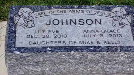 JOHNSON, LILY EVE - Minnehaha County, South Dakota | LILY EVE JOHNSON - South Dakota Gravestone Photos