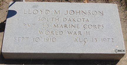 JOHNSON, LLOYD M. - Minnehaha County, South Dakota | LLOYD M. JOHNSON - South Dakota Gravestone Photos