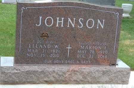 JOHNSON, MARION I. - Minnehaha County, South Dakota | MARION I. JOHNSON - South Dakota Gravestone Photos