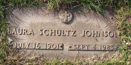 SCHULTZ JOHNSON, LAURA - Minnehaha County, South Dakota | LAURA SCHULTZ JOHNSON - South Dakota Gravestone Photos
