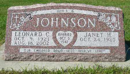 JOHNSON, LEONARD C. - Minnehaha County, South Dakota | LEONARD C. JOHNSON - South Dakota Gravestone Photos