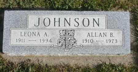 JOHNSON, ALLAN B. - Minnehaha County, South Dakota | ALLAN B. JOHNSON - South Dakota Gravestone Photos