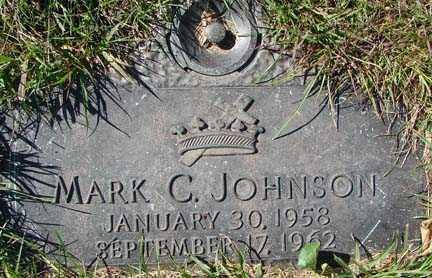 JOHNSON, MARK C. - Minnehaha County, South Dakota | MARK C. JOHNSON - South Dakota Gravestone Photos