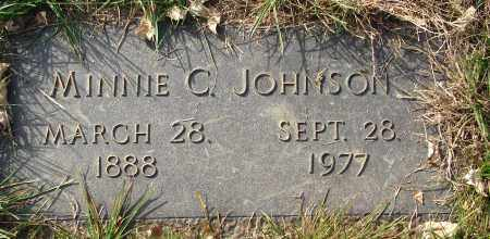 JOHNSON, MINNIE C. - Minnehaha County, South Dakota   MINNIE C. JOHNSON - South Dakota Gravestone Photos