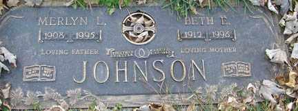 JOHNSON, BETH E. - Minnehaha County, South Dakota | BETH E. JOHNSON - South Dakota Gravestone Photos