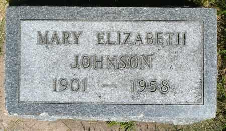 JOHNSON, MARY ELIZABETH - Minnehaha County, South Dakota | MARY ELIZABETH JOHNSON - South Dakota Gravestone Photos