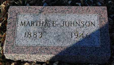 JOHNSON, MARTHA E. - Minnehaha County, South Dakota   MARTHA E. JOHNSON - South Dakota Gravestone Photos