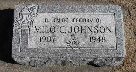 JOHNSON, MILO C. - Minnehaha County, South Dakota | MILO C. JOHNSON - South Dakota Gravestone Photos
