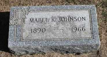 JOHNSON, MABEL K. - Minnehaha County, South Dakota | MABEL K. JOHNSON - South Dakota Gravestone Photos