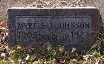 JOHNSON, MYRTLE J. - Minnehaha County, South Dakota | MYRTLE J. JOHNSON - South Dakota Gravestone Photos