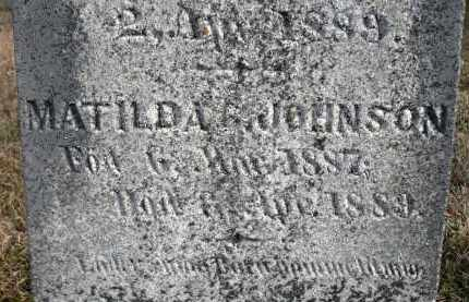 JOHNSON, MATILDA - Minnehaha County, South Dakota | MATILDA JOHNSON - South Dakota Gravestone Photos