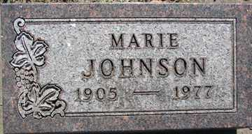 JOHNSON, MARIE - Minnehaha County, South Dakota | MARIE JOHNSON - South Dakota Gravestone Photos
