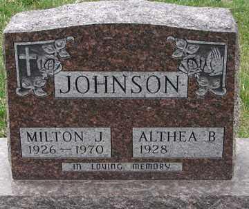 JOHNSON, MILTON J. - Minnehaha County, South Dakota | MILTON J. JOHNSON - South Dakota Gravestone Photos