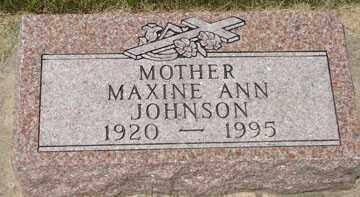 JOHNSON, MAXINE ANN - Minnehaha County, South Dakota | MAXINE ANN JOHNSON - South Dakota Gravestone Photos