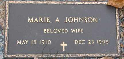 JOHNSON, MARIE A. - Minnehaha County, South Dakota | MARIE A. JOHNSON - South Dakota Gravestone Photos