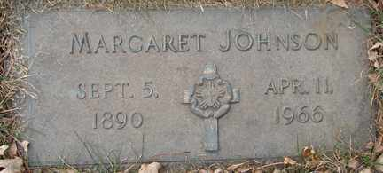 JOHNSON, MARGARET - Minnehaha County, South Dakota   MARGARET JOHNSON - South Dakota Gravestone Photos