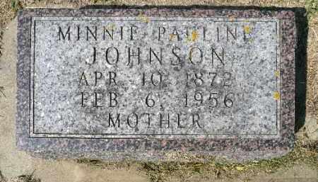 JOHNSON, MINNIE PAULINE - Minnehaha County, South Dakota   MINNIE PAULINE JOHNSON - South Dakota Gravestone Photos