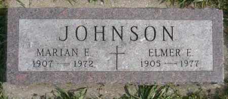 JOHNSON, MARIAN E. - Minnehaha County, South Dakota   MARIAN E. JOHNSON - South Dakota Gravestone Photos