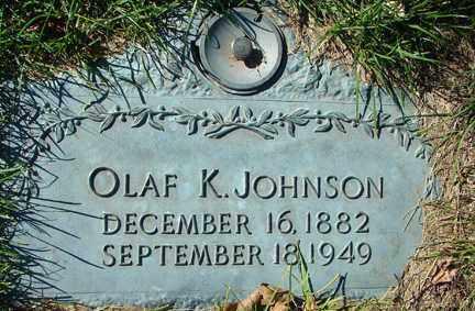JOHNSON, OLAF K. - Minnehaha County, South Dakota | OLAF K. JOHNSON - South Dakota Gravestone Photos