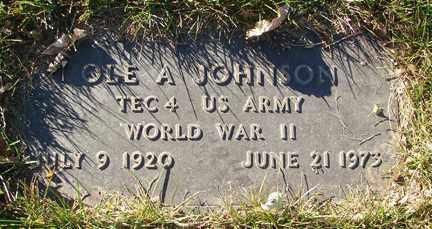 JOHNSON, OLE A. - Minnehaha County, South Dakota | OLE A. JOHNSON - South Dakota Gravestone Photos