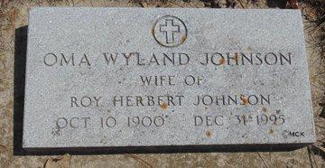 JOHNSON, OMA - Minnehaha County, South Dakota   OMA JOHNSON - South Dakota Gravestone Photos