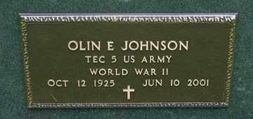 JOHNSON, OLIN E. (WWII) - Minnehaha County, South Dakota | OLIN E. (WWII) JOHNSON - South Dakota Gravestone Photos