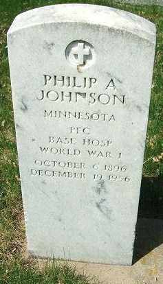 JOHNSON, PHILIP A. - Minnehaha County, South Dakota | PHILIP A. JOHNSON - South Dakota Gravestone Photos