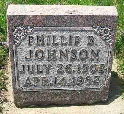 JOHNSON, PHILLIP B. - Minnehaha County, South Dakota   PHILLIP B. JOHNSON - South Dakota Gravestone Photos