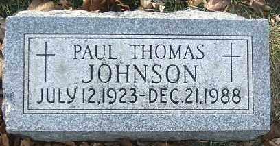 JOHNSON, PAUL THOMAS - Minnehaha County, South Dakota | PAUL THOMAS JOHNSON - South Dakota Gravestone Photos